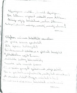 Sáfáry kéziratos verse 1926-ból