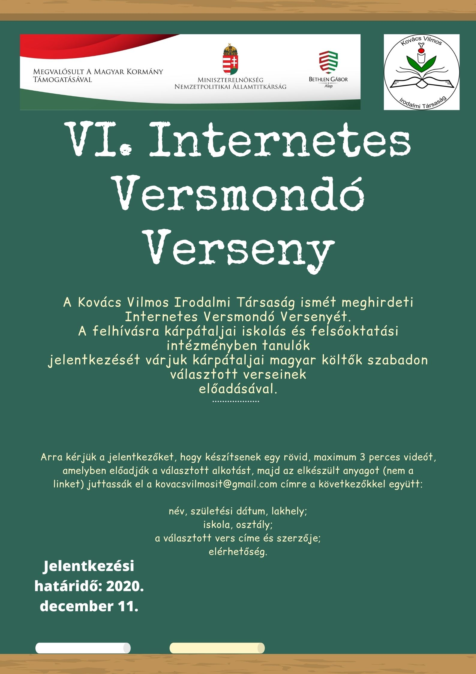 VI. Internetes Versmondó Verseny